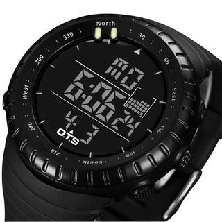 スント風 OTS ダイバーズウォッチ ブラック 50M防水(腕時計(デジタル))