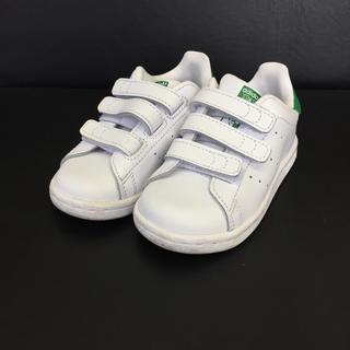 adidas - 一回使用☆アディダス☆スタンスミス☆ホワイト×グリーン☆キッズ/14cm