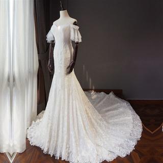 ウエディングドレス マーメイドライン オフショル ロングトレーン オーダーメイド(ウェディングドレス)
