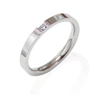 リング 指輪 一粒ジルコニア シルバー レディース(リング(指輪))