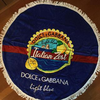 ドルチェアンドガッバーナ(DOLCE&GABBANA)の新品 非売品ノベルティドルチェ&ガッバーナ light blue ビーチタオル(タオル/バス用品)