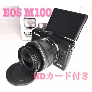 Canon - 新品級⭐️wifi転送⭐️eos M100⭐️レンズキット