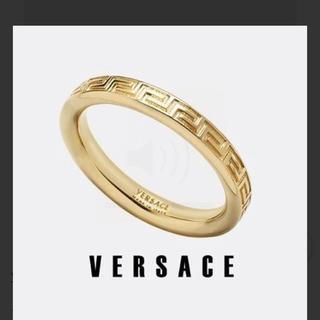 "VERSACE - 「早い者勝ち」●VERSACE●""Greek"" 刻印 ゴールドトーン リング"