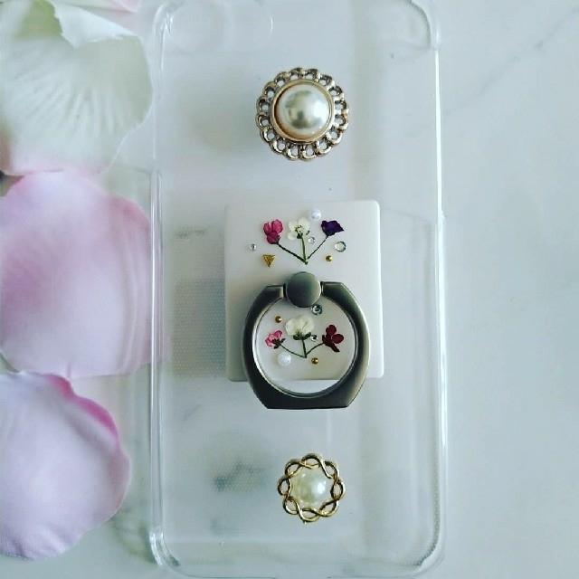 プラダ iphone x ケース - iPhoneケース ハンドメイド カボションとアリッサムの押し花の通販 by RSI's shop|ラクマ