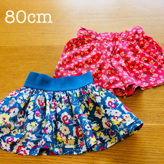 ザラキッズ(ZARA KIDS)の美品✨80 ザラ ベビーギャップ  スカート ショートパンツセット(スカート)