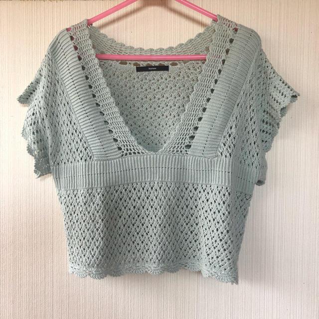 Kastane(カスタネ)のカスタネ かぎ針編みニット レディースのトップス(ニット/セーター)の商品写真