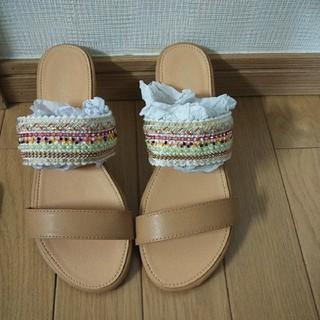 新品 Shoes in Closetエスニック調メタルタブルベルトサンダル (サンダル)