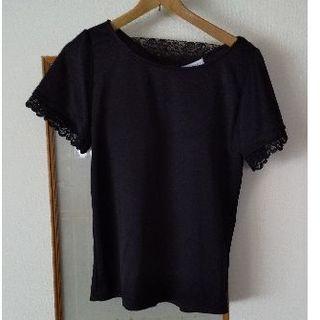 シマムラ(しまむら)のしまむら黒ブラトップ付Tシャツ(Tシャツ(半袖/袖なし))