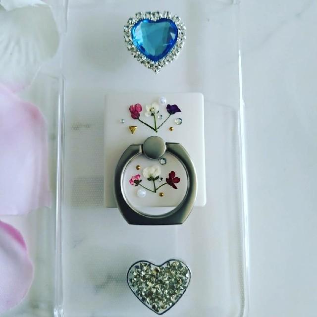 iphone xr ケース クリア ハード / iPhoneケース ハンドメイド アリッサムの押し花の通販 by RSI's shop|ラクマ