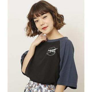 ダブルネーム(DOUBLE NAME)の【新品】NASAドルマンラグランTシャツ/DOUBLE NAME(Tシャツ(半袖/袖なし))