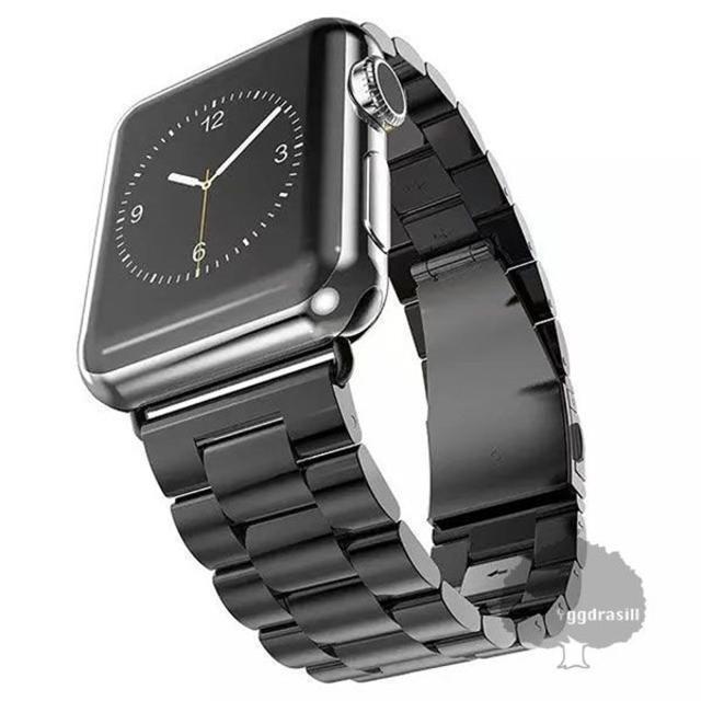 YGG★新品 Apple Watch用 腕時計 ベルト 42/44mm 黒 メンズの時計(金属ベルト)の商品写真