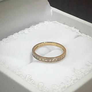 K18ピンクゴールド ダイヤ ハーフエタニティ リング(リング(指輪))