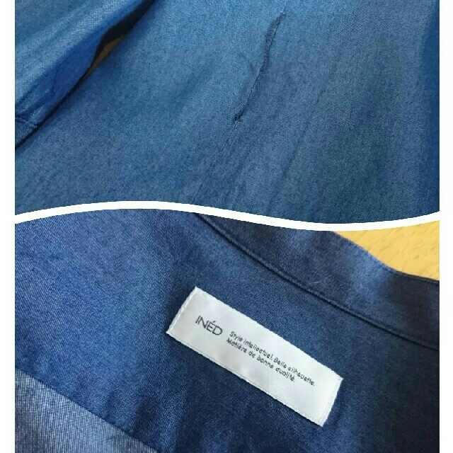 INED(イネド)のイネド INED 羽織りワンピース レディースのワンピース(ロングワンピース/マキシワンピース)の商品写真