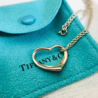 ティファニー(Tiffany & Co.)のTIFFANY & Co. オープンハートネックレス 美品 値下げ(ネックレス)