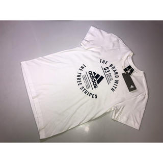 アディダス(adidas)の354◆新品◆adidas アディダス◆半袖Tシャツ 白系 Mサイズ ホワイト(Tシャツ/カットソー(半袖/袖なし))