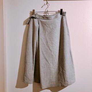 ジーユー(GU)のgu 膝丈フレアスカート(ひざ丈スカート)