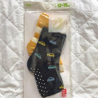 ユニクロ(UNIQLO)の【新品】ユニクロBabyソックス12-15cm(靴下/タイツ)