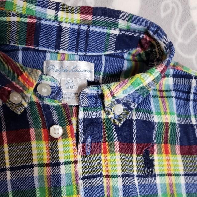 Ralph Lauren(ラルフローレン)のRALPH LAUREN半袖ショートオール24M キッズ/ベビー/マタニティのベビー服(~85cm)(カバーオール)の商品写真