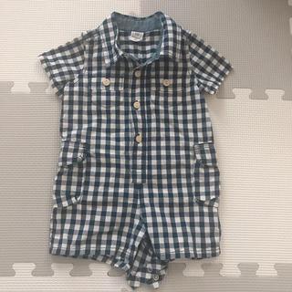 d7688520ddae9 ベビーギャップ(babyGAP)のbabygap ギンガムチェック ショートボディシャツ ロンパース ベビー(ロンパース