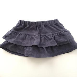 クミキョク(kumikyoku(組曲))の組曲 ティアードスカート デニム風 80センチ(スカート)