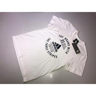 アディダス(adidas)の357◆adidas アディダス◆半袖Tシャツ 白系 XXLサイズ XO 3L(Tシャツ/カットソー(半袖/袖なし))