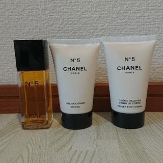 CHANEL - CHANEL No 5 香水 シャワージェル ボディークリームシグネチャーバッグ