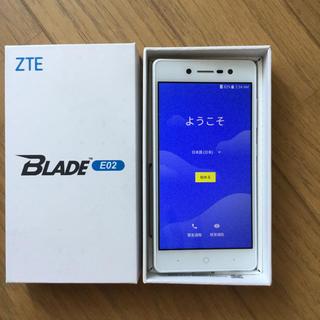 アンドロイド(ANDROID)のZTE BLADE E02(スマートフォン本体)