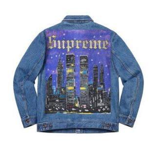 Supreme - supreme newyork painted trucker jacket S
