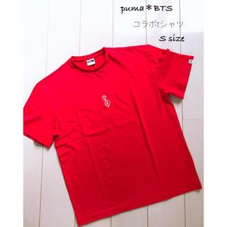 防弾少年団(BTS) - BTS*プーマコラボ 半袖TシャツRED*サイズS