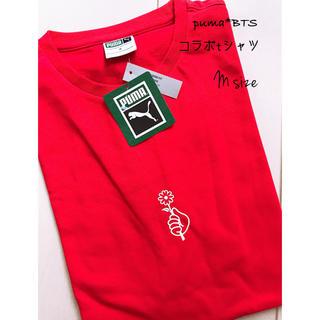 防弾少年団(BTS) - プーマ*BTSコラボTシャツ*半袖RED*サイズM