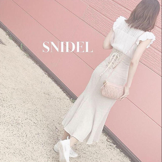 snidel - 完売✨新作 新品 コットンリネンマーメイドスカート