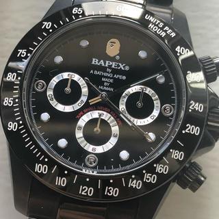 アベイシングエイプ(A BATHING APE)のbape bapex 腕時計 デイトナ系(腕時計(アナログ))
