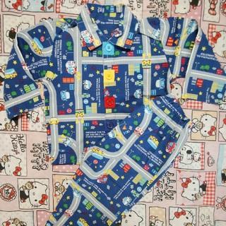 ニシマツヤ(西松屋)の 西松屋 乗り物 薄手 長袖 パジャマ ボタン 100(パジャマ)