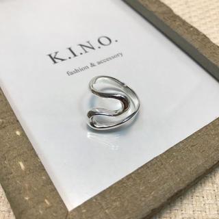 シンプル ウェーブモチーフ silver925 Plated デザインリング(リング(指輪))