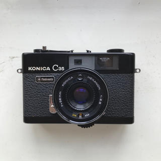 KONICA MINOLTA - 【実写作例あり】KONICA C35 flashmatic ブラック 単焦点