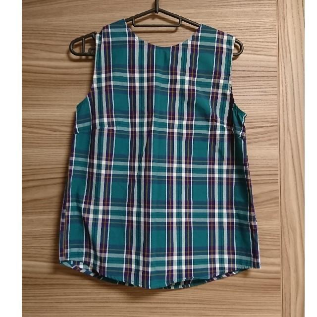 GU(ジーユー)の【GU】チェックバックボタンブラウス レディースのトップス(シャツ/ブラウス(半袖/袖なし))の商品写真