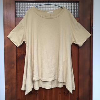 スタディオクリップ(STUDIO CLIP)の【送料無料】スタディオクリップ Tシャツ コットンリネン 裾フレア(Tシャツ(半袖/袖なし))