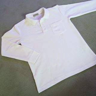 シマムラ(しまむら)の【美品】ポロシャツ 白 長袖 150㎝(Tシャツ/カットソー)