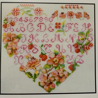 DMCクロスステッチキット Mulberry Flower Heart