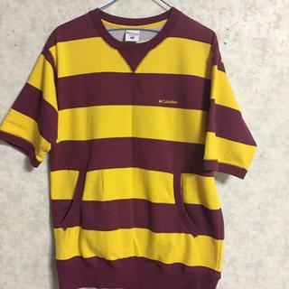 コロンビア(Columbia)の(Columbia)スウェット生地Tシャツ カンガルーポケット(Tシャツ/カットソー(半袖/袖なし))