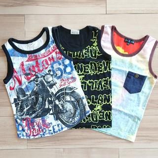 シマムラ(しまむら)の新品&美品♥️120★しまむらバースデイ★タンクトップ3枚セット(Tシャツ/カットソー)