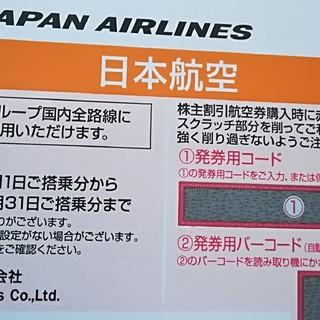 ジャル(ニホンコウクウ)(JAL(日本航空))のJAL日本航空 株主優待券5枚(航空券)