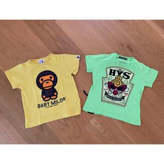 アベイシングエイプ(A BATHING APE)のBABYMILO&histeric Tシャツ2枚セット【100】(Tシャツ/カットソー)