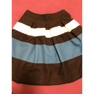 クリアインプレッション(CLEAR IMPRESSION)のclear impression ネイビーボーダースカートS(ひざ丈スカート)