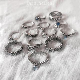 フィグアンドヴァイパー(FIG&VIPER)の♡ Vintage Silver Boho Rings set(リング(指輪))