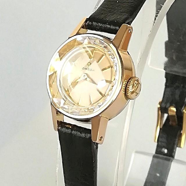 new arrival 186b5 8ad14 ⭐OH済 綺麗 オメガ カットガラス 時計 レディース ウォッチ ゴールド 美品