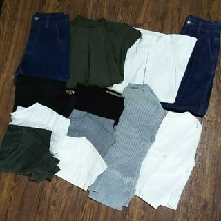 ジーユー(GU)のGU ジーユー 12点セット デニム パンツガウチョ スカート Tシャツ リブ(デニム/ジーンズ)