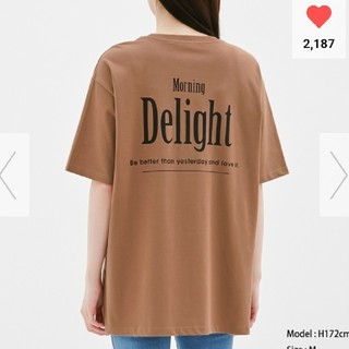 ジーユー(GU)のGU ジーユー オーバーサイズ サイドスリット ロゴ プリント Tシャツ(Tシャツ(半袖/袖なし))