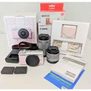 Canon - 付属品多数!Canon EOS M100 リミテッドピンク★予備バッテリー付き