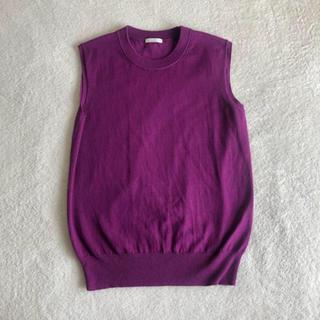 ジーユー(GU)のgu トップス パープル 紫(カットソー(半袖/袖なし))